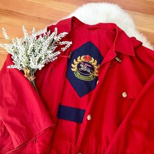 Burberry Auth. RARE Vintage Crest Logo Trench coat
